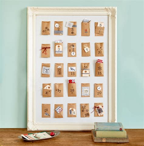 Handmade Advent Calendar Ideas - recycled crafts for decor diy decorations
