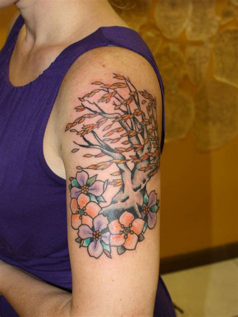 weeping willow tree tattoo weeping willow in bloom on forearm tattoomagz