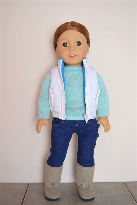 18 inch doll clothes white vest 18 inch doll clothes