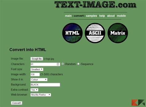 convertire immagini in testo come convertire testo e immagini in ascii chimerarevo