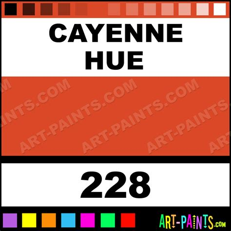 what color is cayenne cayenne basicacryl acrylic paints 228 cayenne paint