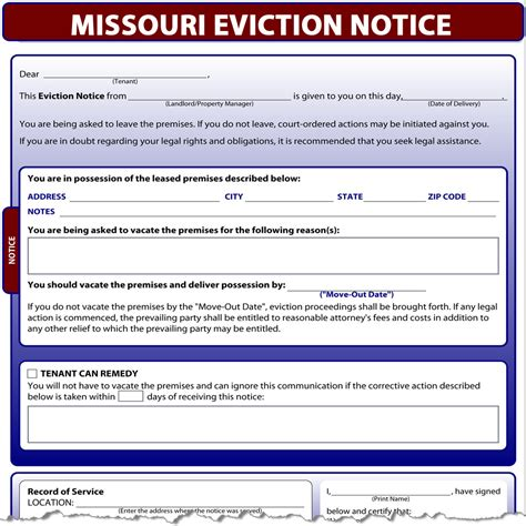 printable eviction notice missouri missouri eviction notice