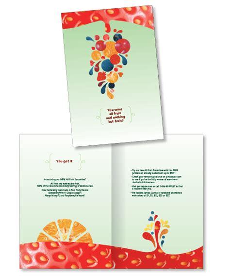 Jamba Gift Card - jamba gift card holder crow creative