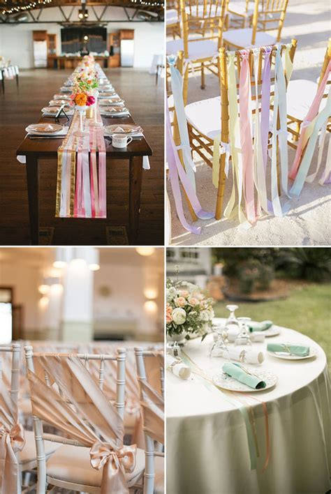 tavoli addobbati per matrimonio decorazioni sei idee con i nastri