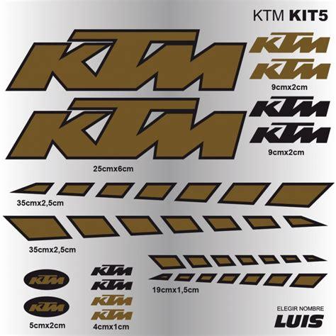 Fahrrad Aufkleber Drucken by Ktm Kit5 Aufkleber F 252 R Fahrrad Vinyls Abziehbilder