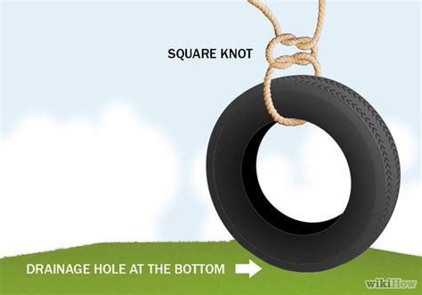 tire swing knot tying how to make a tire swing with pictures wikihow