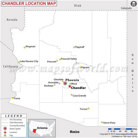 map of usa showing arizona where is chandler arizona