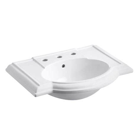 kohler devonshire pedestal sink kohler devonshire 4 7 8 in vitreous china pedestal sink