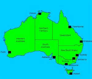 australia major cities map de nugent