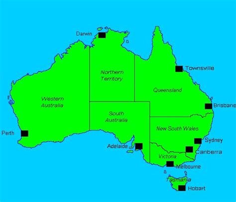 major cities in australia map paul robert myers home page