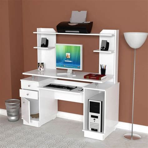 inval credenza computer workstation desk with hutch inval modern white computer workcenter credenza and hutch