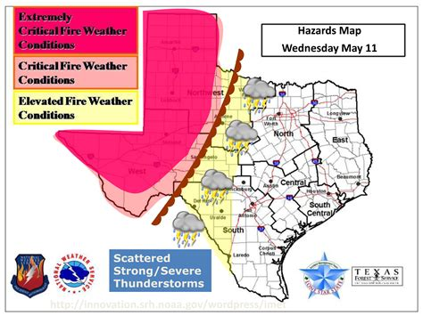 texas weather map forecast texas a m forest service