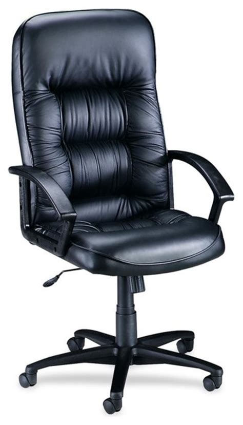 high back tufted office chair lorell tufted leather executive high back chair leather