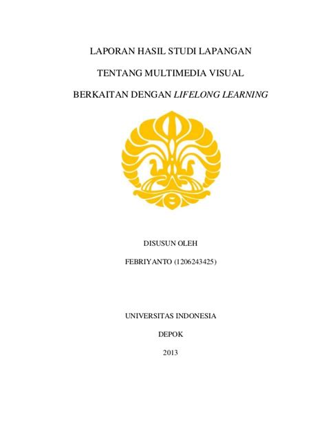 format makalah universitas indonesia febriyanto teknologi multimedia lifelong learning