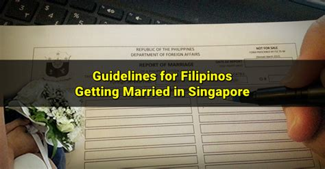 Record Of Solemnization Of Marriage How To Get Married In Singapore For Filipinos Singapore Ofw