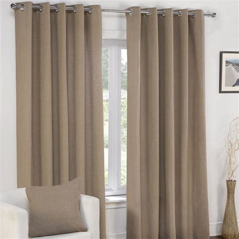 gray and cream curtains plain eyelet grommet fully lined pair window curtains