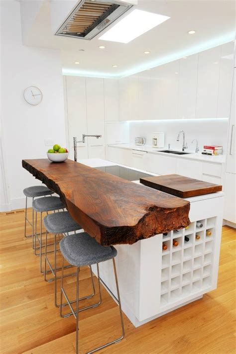 wood top kitchen island 44 reclaimed wood rustic countertop ideas decoholic