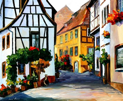 Ikea Wall Stickers germany town on the hill palette knife oil painting on