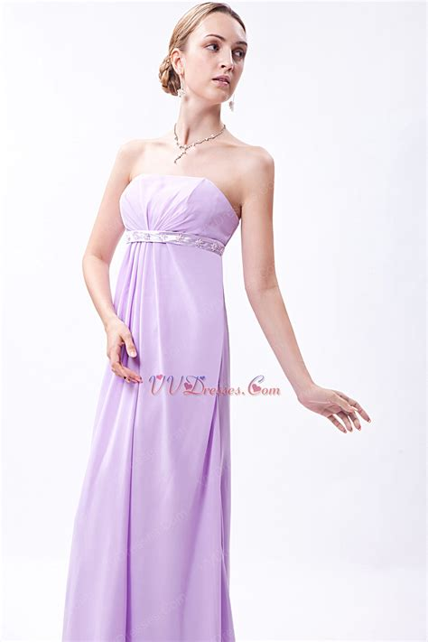 lavender color dress beautiful strapless lilac chiffon skirt prom dress