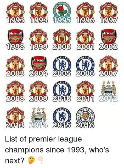 Epl Winners Since 2000 | 25 best memes about premier league arsenal and sports