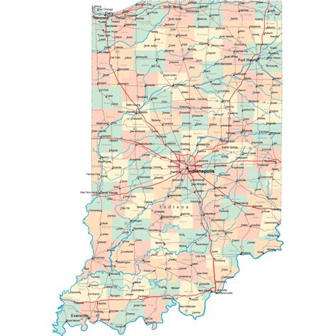 printable road map of indiana indiana road map in road map indiana highway map