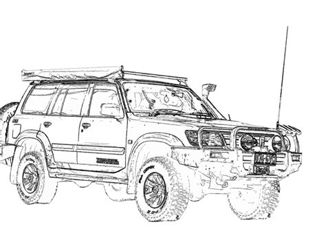 4x4 Sketches 4x4 drawings pictures to pin on pinsdaddy