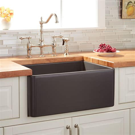 24 Quot Reinhard Fireclay Farmhouse Sink Dark Gray Kitchen Kitchen Farmhouse Sink