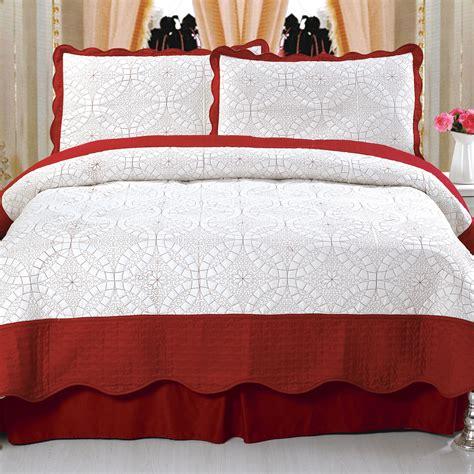 Kmart Quilts Sets by Lavish Home Lydia Embroidered Quilt Set