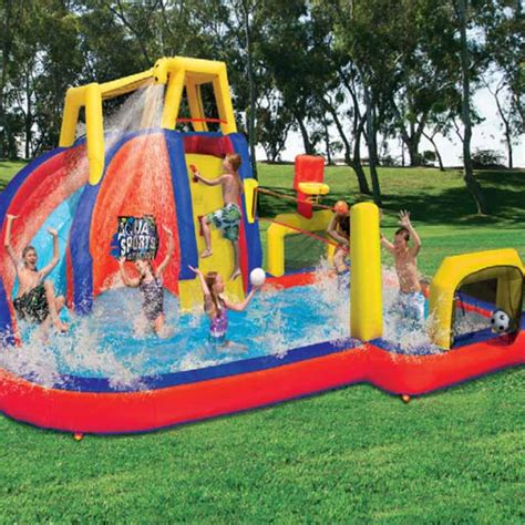 inflatable backyard water park inflatable backyard water slides banzai aqua sports