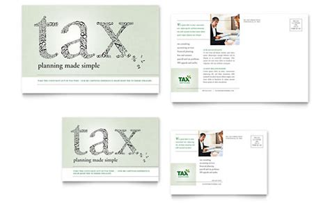 accounting tax services business card letterhead template design