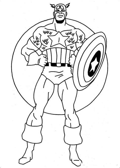 easy superhero coloring page capitanul america de colorat