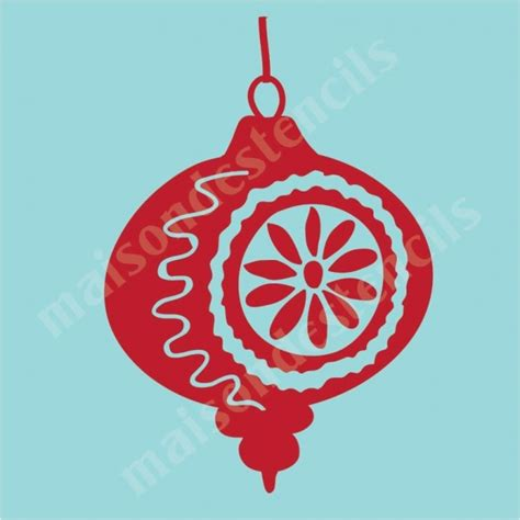 christmas ornament stencil www imgkid com the image