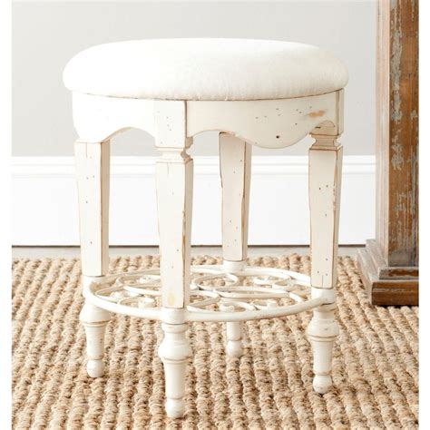 antique white vanity chair safavieh antique white vanity stool amh4007a the
