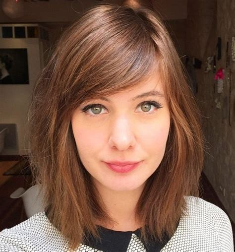 lob long bob with long face high forehead 40 side swept bangs to sweep you off your feet
