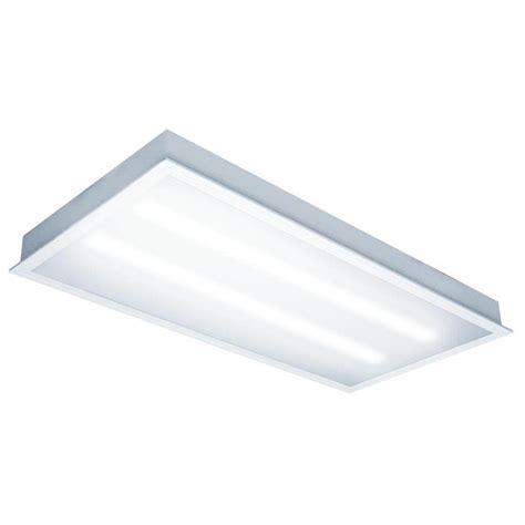 Tcp Lighting Fixtures Tcp 06553 2 X 4 80 Watt 120 277 Volt 5000k Dimming Led Troffer Fixture With Prismatic Lens