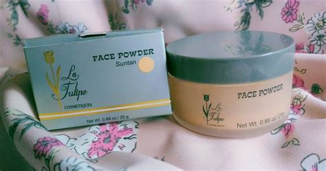 Bedak Venus Tabur review la tulipe powder suntan