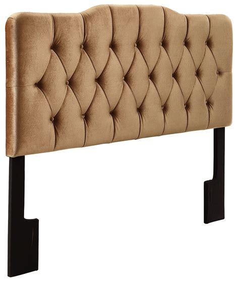 velvet bronze king upholstered soft shape headboard from