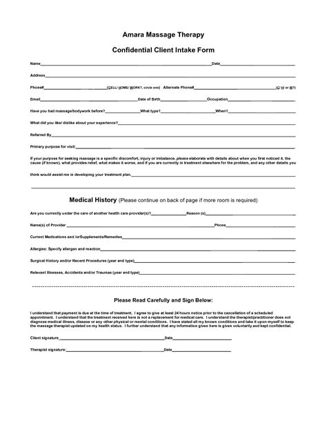 27 Images Of Massage Intake Template Infovia Net Intake Form Template For Counseling