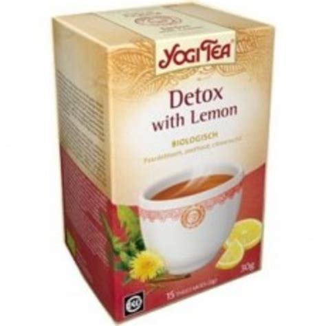 Detox Thee Yogi by Drogisttop Yogi Tea Detox With Lemon 17stuks Yogi Misc