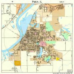Pekin Illinois Map pekin illinois street map 1758447