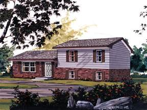 Split Level Ranch Hickory Traditional Home Plan 001d 0065 House Plans