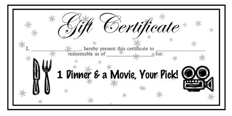 dinner certificate template free top 10 gift ideas for your parents support for stepdads
