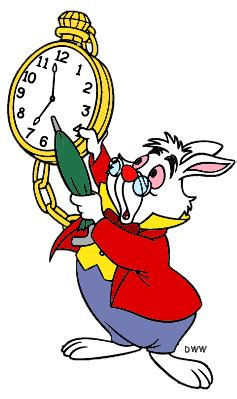 printable white rabbit clock the white rabbit clipart from disney s alice in wonderland