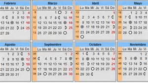 El Salvador Calendario 2018 Calendario Lunar Embarazo 2017 Calendarios De Embarazo