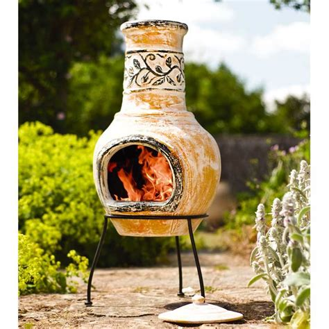 Open Chiminea Clay Chimineas Sale Fast Delivery Greenfingers