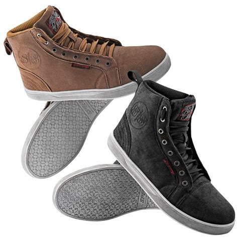 speed and strength black 9 moto shoes riders line