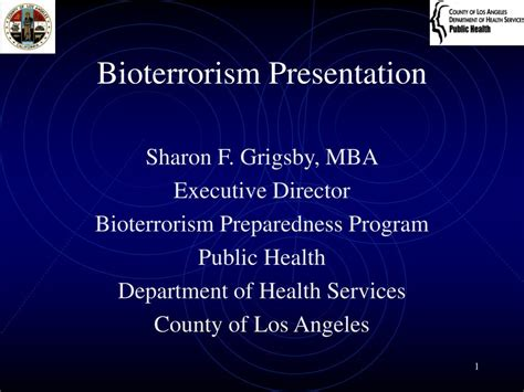 Los Angeles Executive Mba Programs by Ppt Bioterrorism Presentation Powerpoint Presentation