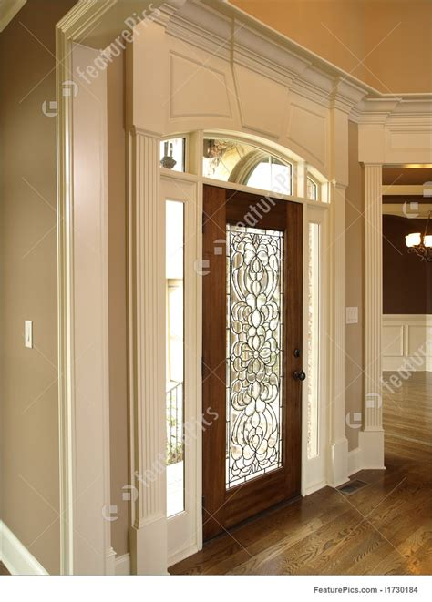 foyer door interior architecture luxury foyer with ornate stained glass door luxury foyer with glass door image