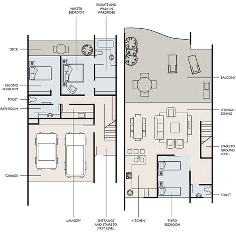 Townhome Floor Plan Designs 3 Bed Townhouse Azure Sea Apartments