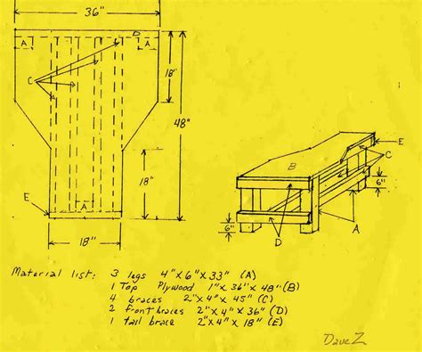 shooting bench building plans free shooting bench plans david zinski come this set